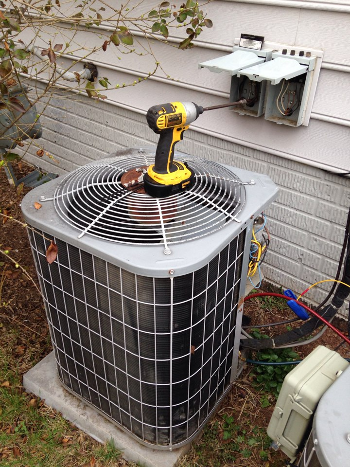 Chantilly, VA - Performed a spring inspection on 2 Carrier air conditioning systems. Replaced a couple weak capacitors and removed a clogged P-trap on a condensate line in the attic.