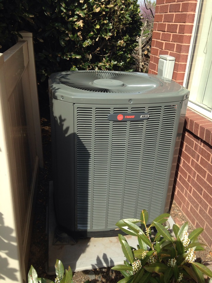 Sterling, VA - Performed cooling inspection on a trane heat pump.