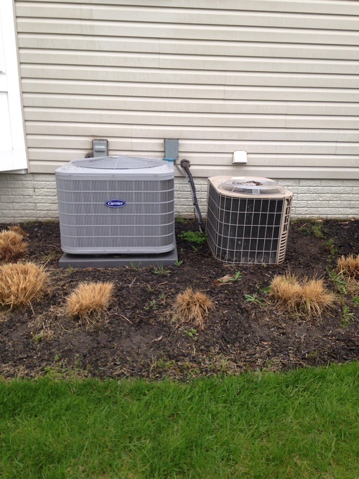 Leesburg, VA - Performed ac inspection on two systems. New Carrier system is ok. Replaced capacitor in older York system.