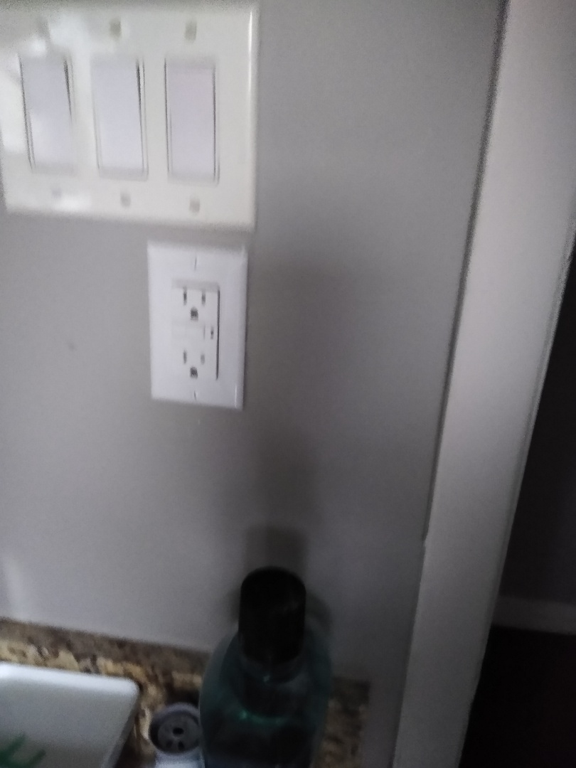 Grand Prairie, TX - Relocating panel from bathroom to outside also rebuilding service meter smoke detectors GFCI and proper grounding