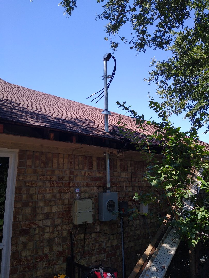 Flower Mound, TX - Replaced service that tree fell on