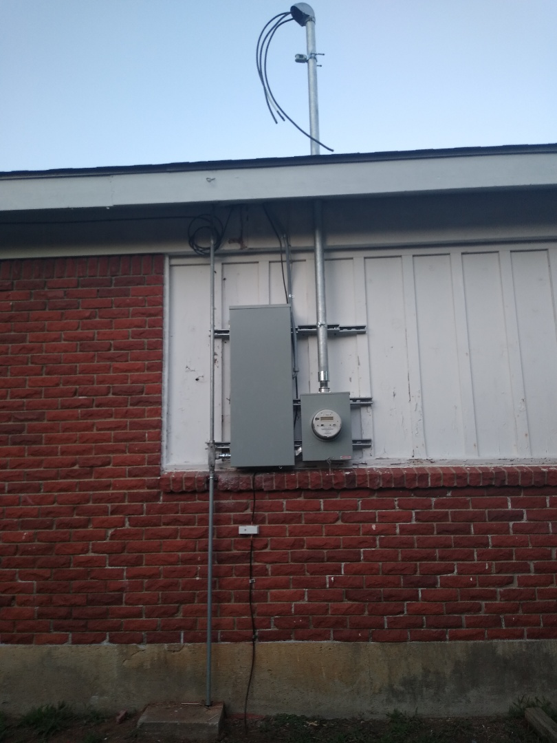 Bedford, TX - Replacing down service and panel relocation also adding grounding