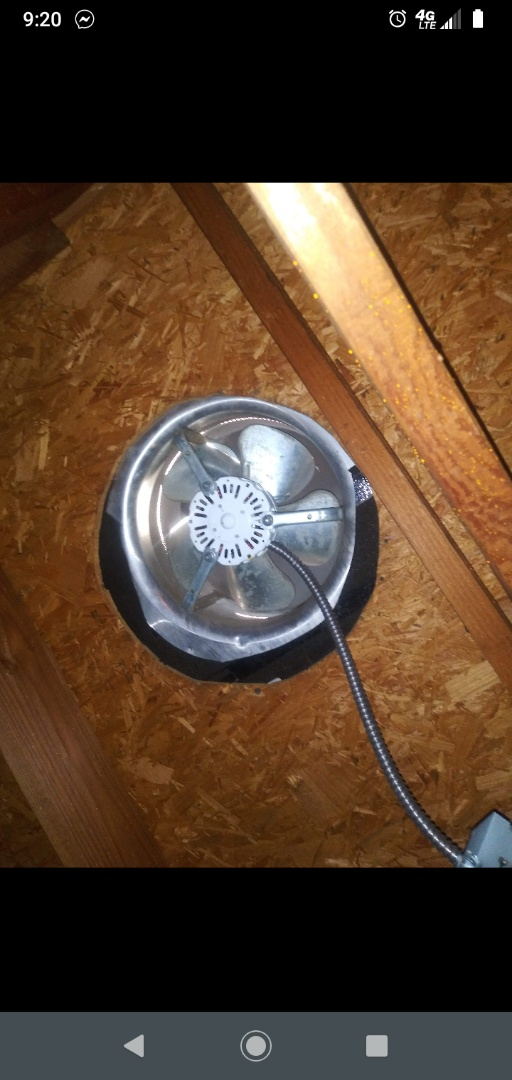 Mansfield, TX - Replacing attic fan motor