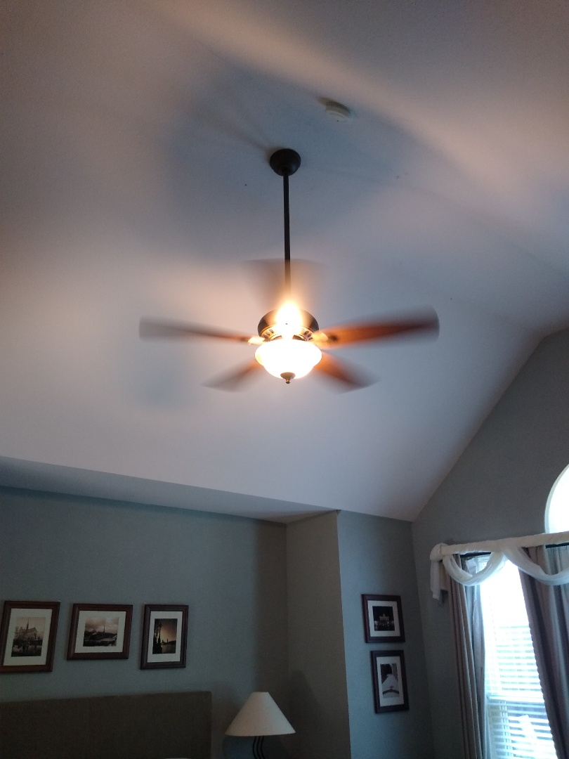 Flower Mound, TX - Replaced ceiling fan in the master bedroom