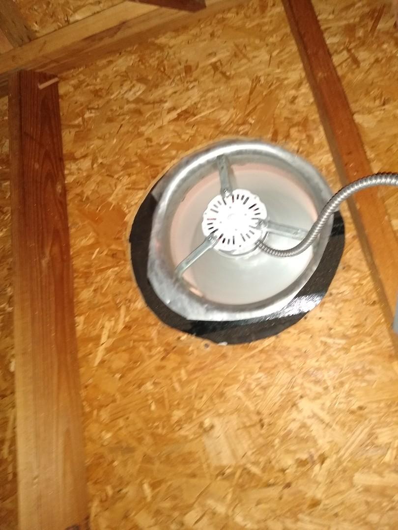 Mansfield, TX - Replaced fan motor in attic
