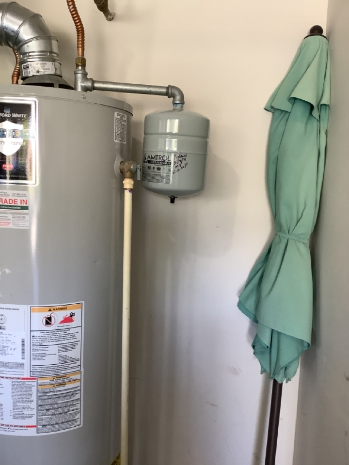 Expansion tank install and estimate for water heater and sink installation