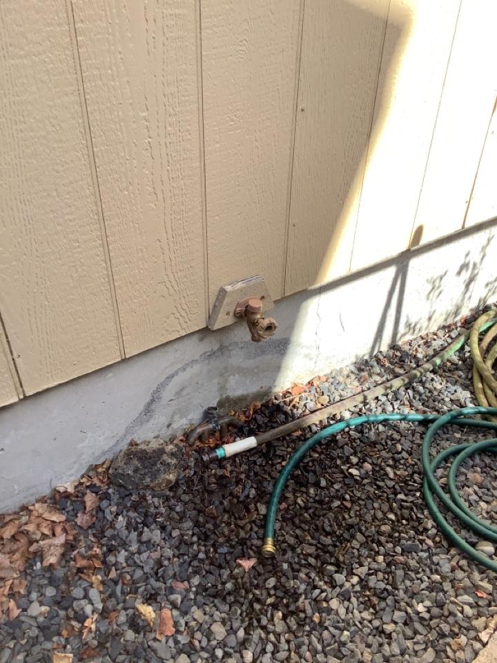 Installed hose bibs and pipe repair