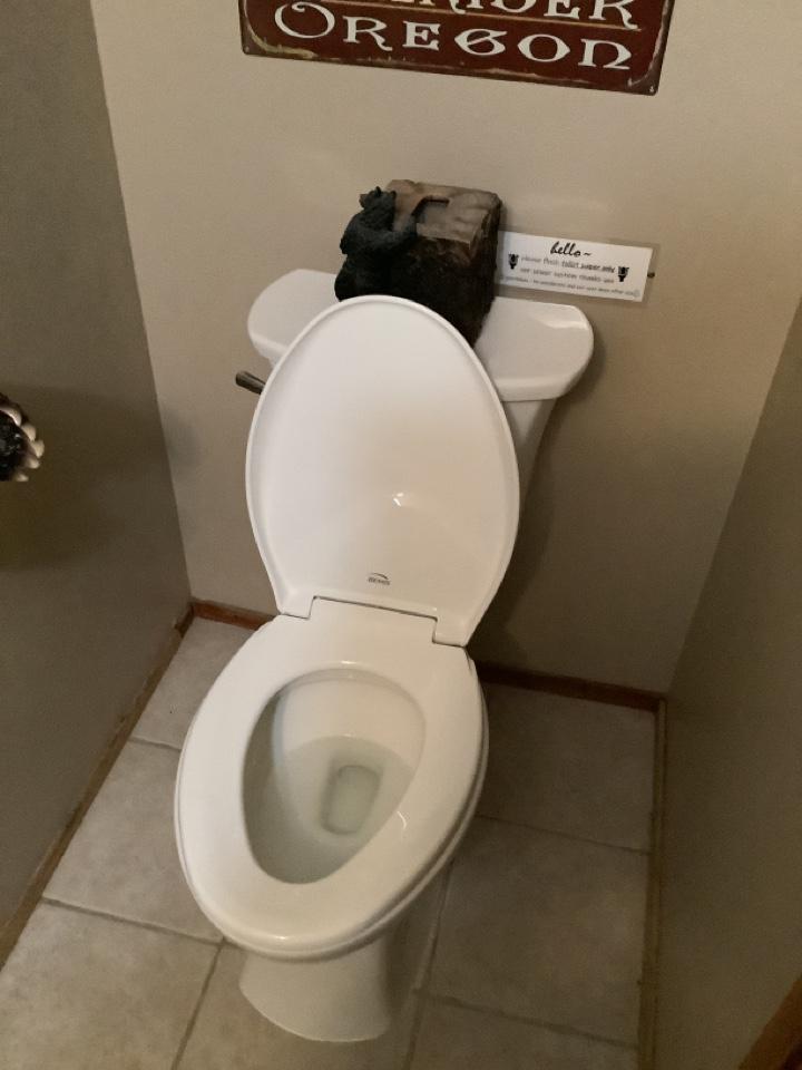 New American standard toilet install