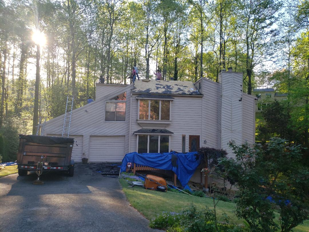 Replacing entire roof