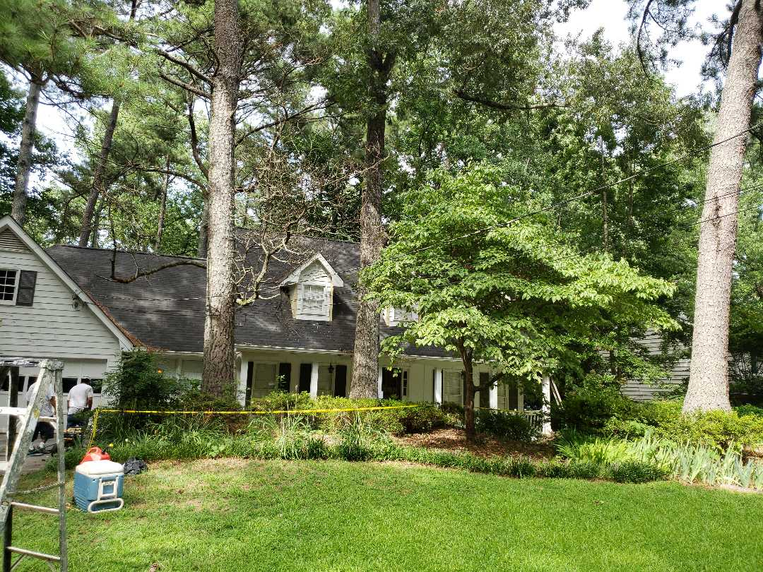 Atlanta, GA - Painting the entire exterior with sherwin Williams Resilience