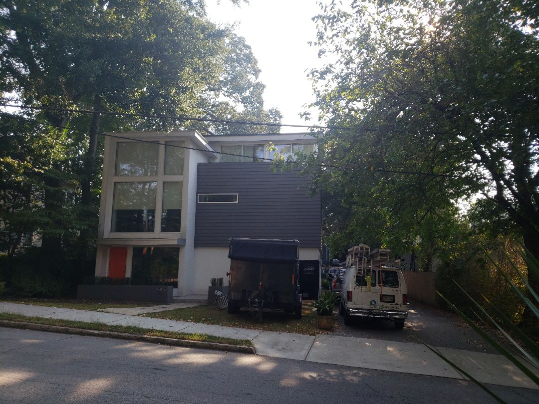 Replacing rotten wood and hardie panels.
