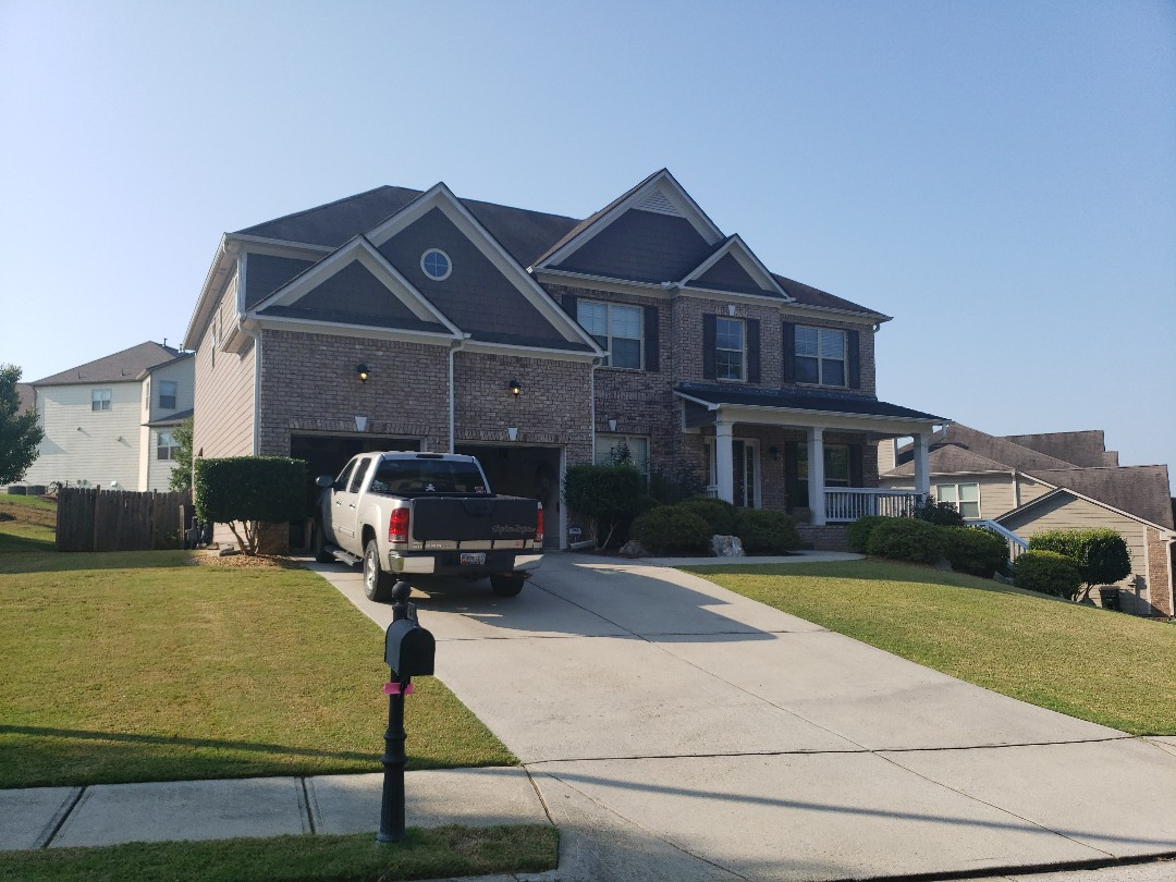 Painting job in Acworth.   Sherwin-Williams resilience paint.