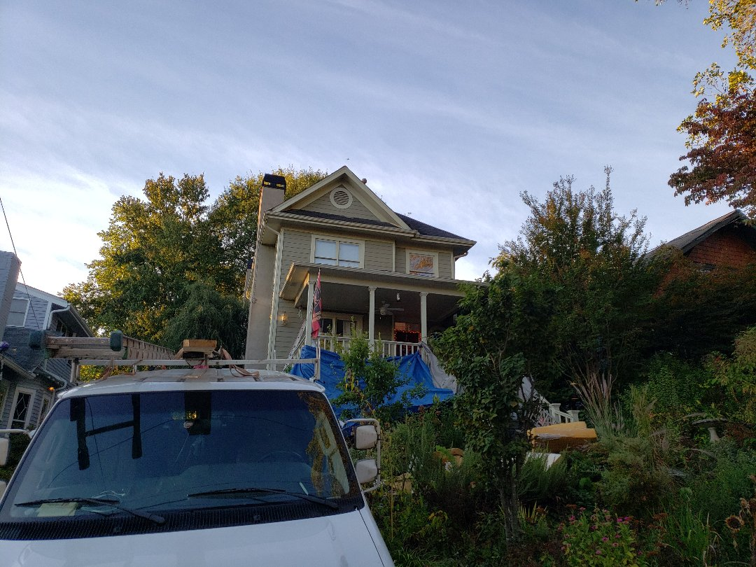 Replacing the entire roof with GAF Timberline HD Architectural sheengles