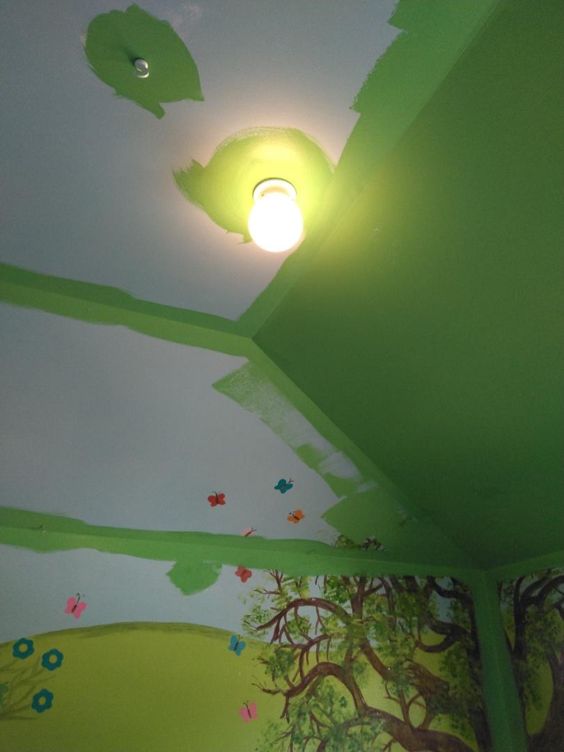 Interior painting, trim work.