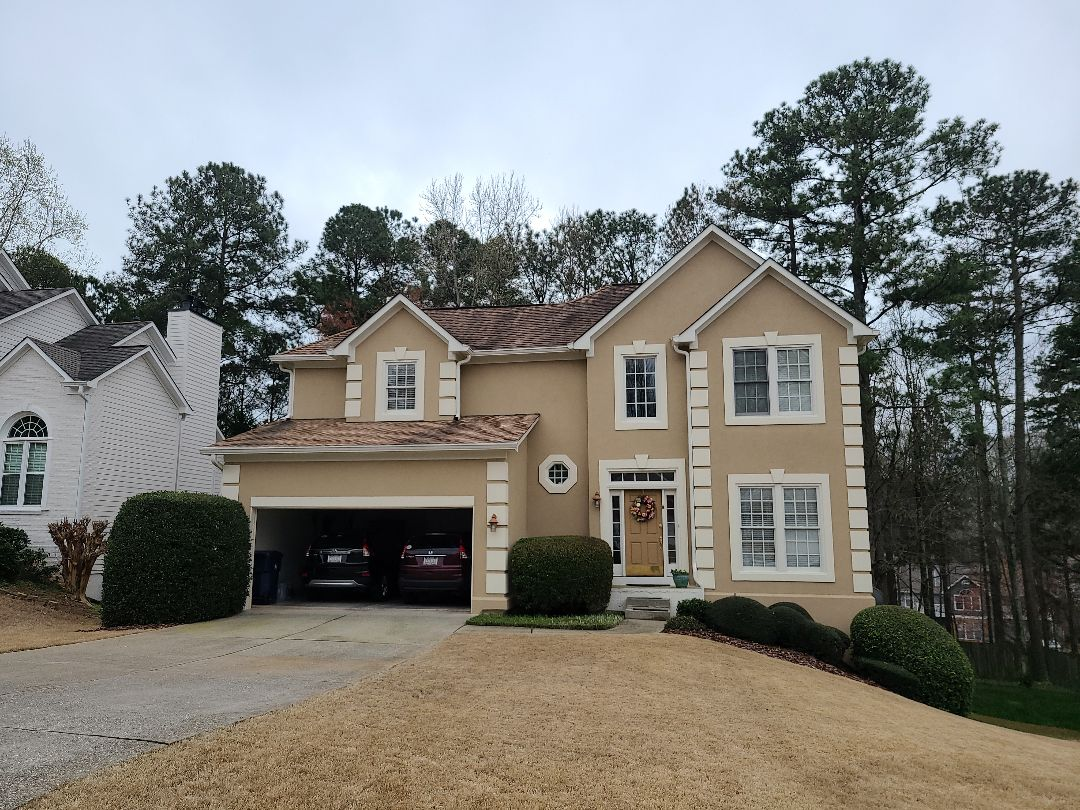 Alpharetta, GA - Replacing siding on the back of the house and painting it to match