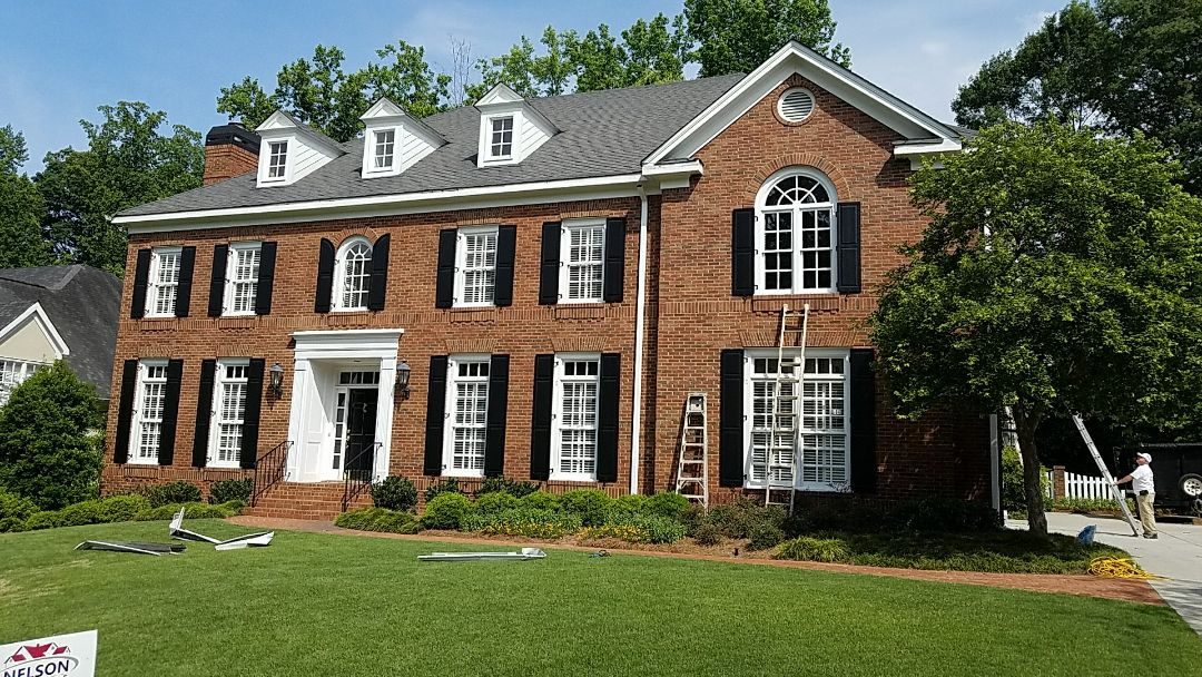 Atlanta, GA - Replacing gutters and Painting the entire exterior with Sherwin Williams Duration Home Exterior