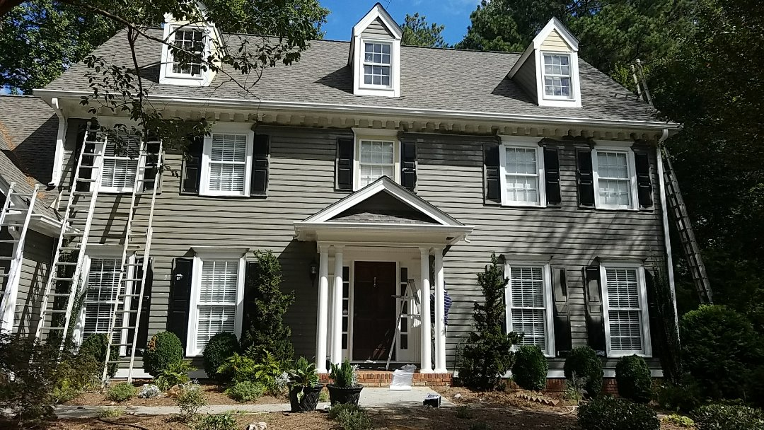 Roswell, GA - New roof and repainting the entire exterior.