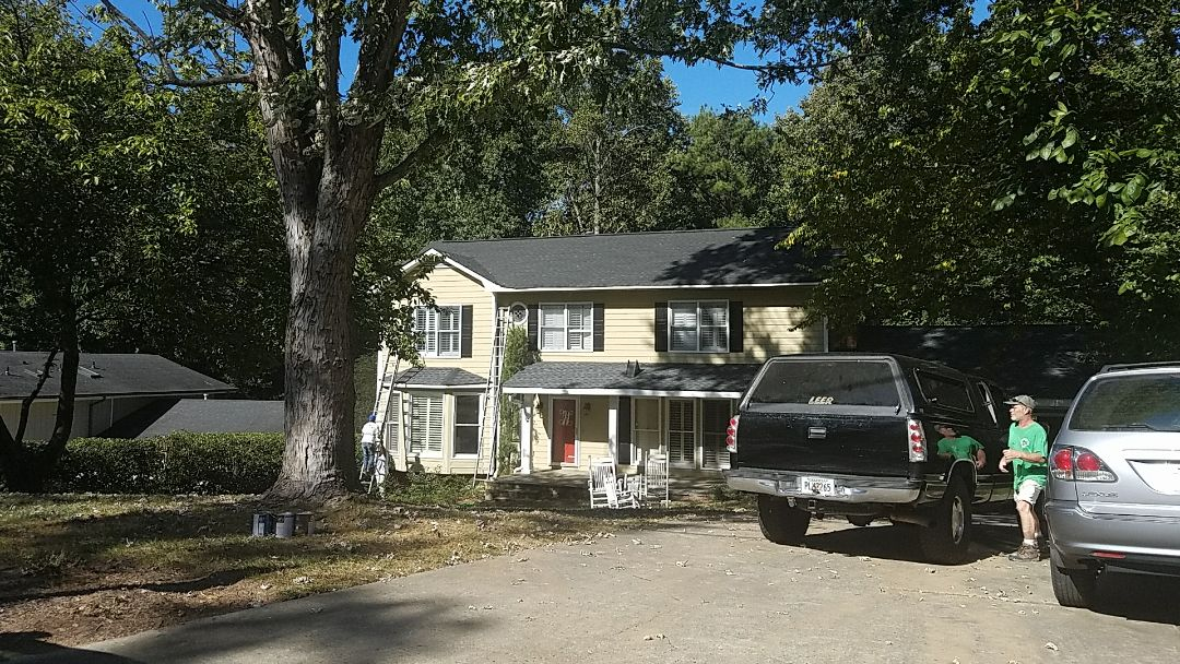 Dunwoody, GA - Repainting the front of the house