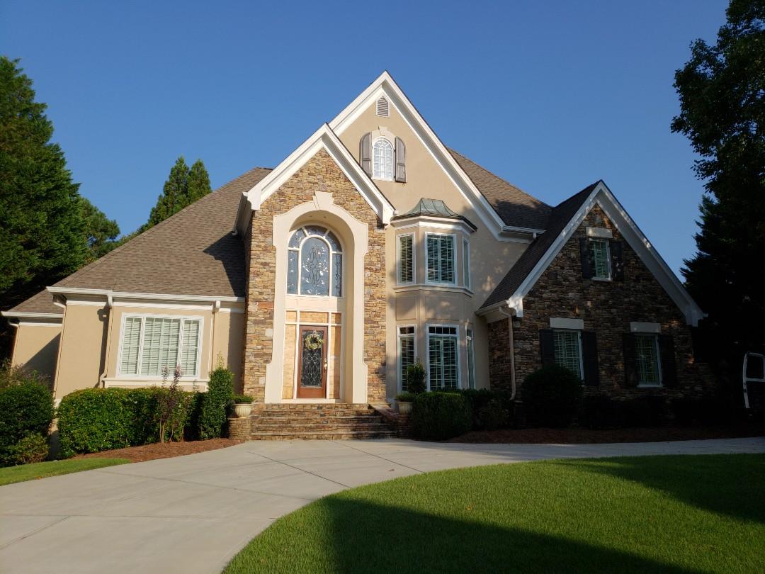 Marietta, GA - Painting  exterior trim and installing new shutters.