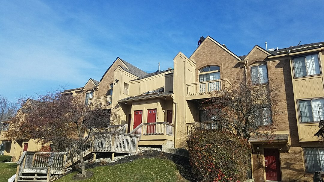 Novi, MI - Installing New Certainteed Roof systems on multi Family, had ridge vent with no intake ventilation at the eaves. Installing canister ventilation and replacing all the rotted decking