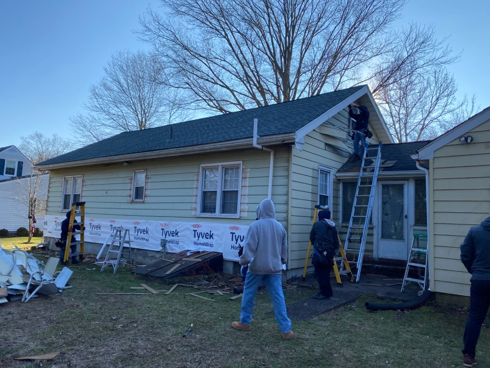 Pennington, NJ - Siding installation inspection.