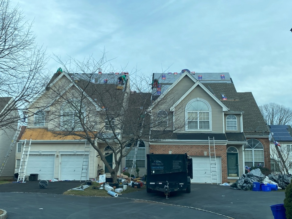 North Brunswick Township, NJ - Roof installation progress inspection.
