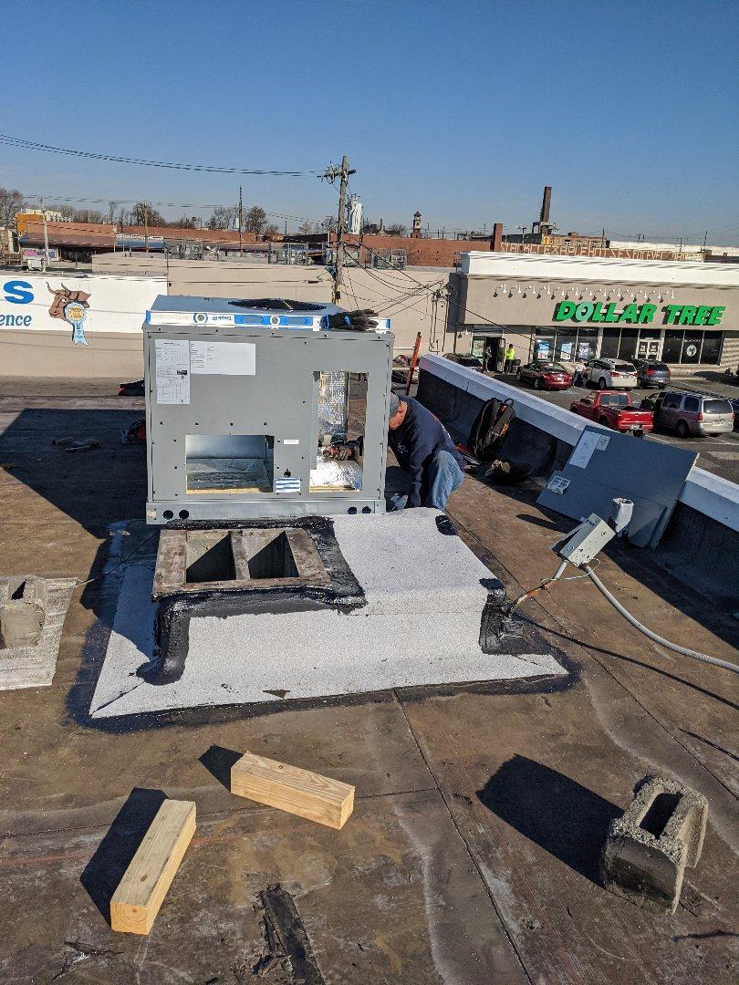 Replacing Daikin Rooftop unit in Philadelphia, PA.