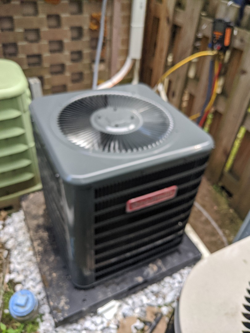 Installed New GOODMAN condenser unit with matching cased coil in North Wales, PA