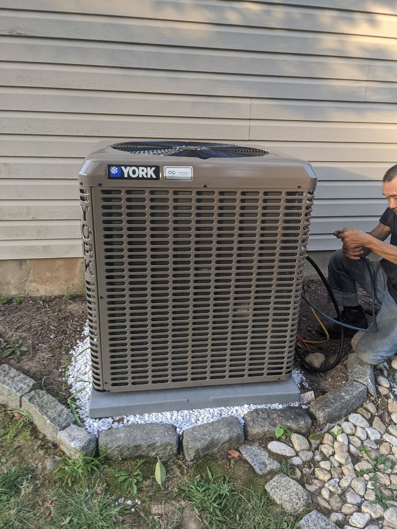 Install new YORK heater and AC unit in Horsham.