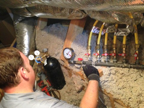 Irving, TX - Gas pressure test, isolation test, water heater gas line repair