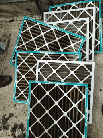 Colleyville, TX - Water dripping from air conditioner dirty filters maintenance performed