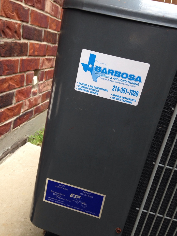 Grand Prairie, TX - Maintenance inspection for two amanna HVAC systems