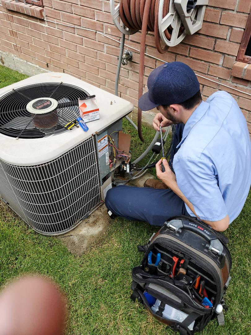 Dallas, TX - 3 AC system tune up. ac repair - Contactor replacement for the upstairs unit