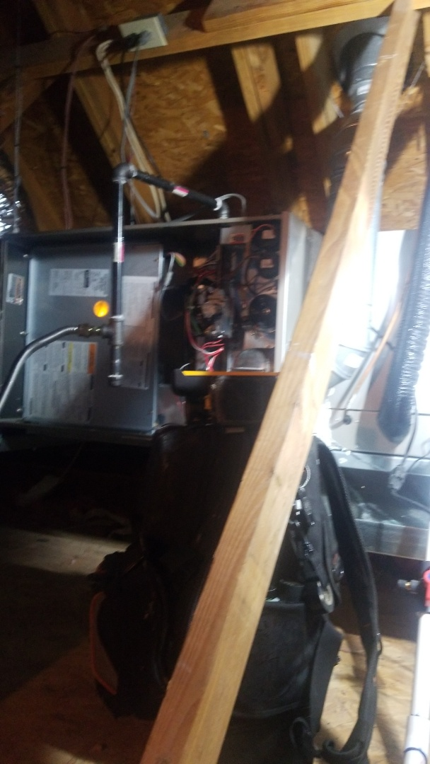 Flower Mound, TX - Preforming fall furnace maintenance on a 2 stage Carrier Furnace