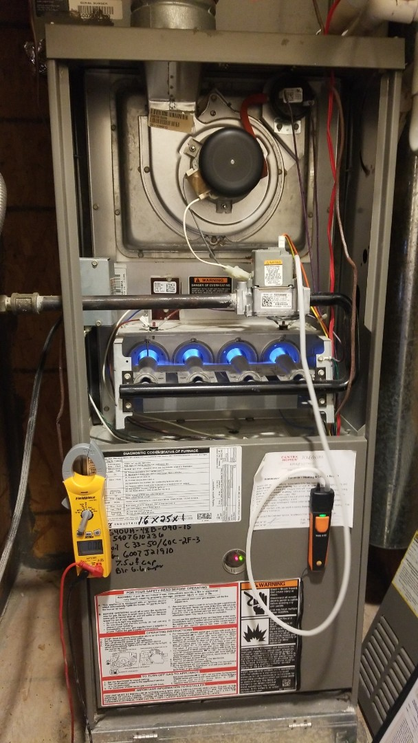Lewisville, TX - Preforming furnace maintenance on a Lennox system