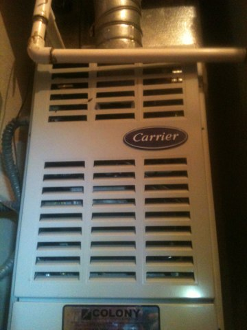 Farmers Branch, TX - Finished preventive Furnace maintenance of a sixteen year old Carrier heater (58PAV090-16). Did heater repair.  problem found was a very old igniter that would not last thru the winter.