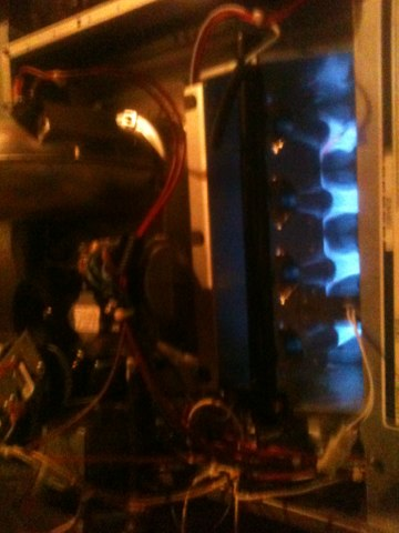 Farmers Branch, TX - Heating repair on An older Trane heater. It lost it's main limit because the filter restricted the air flow toom much.
