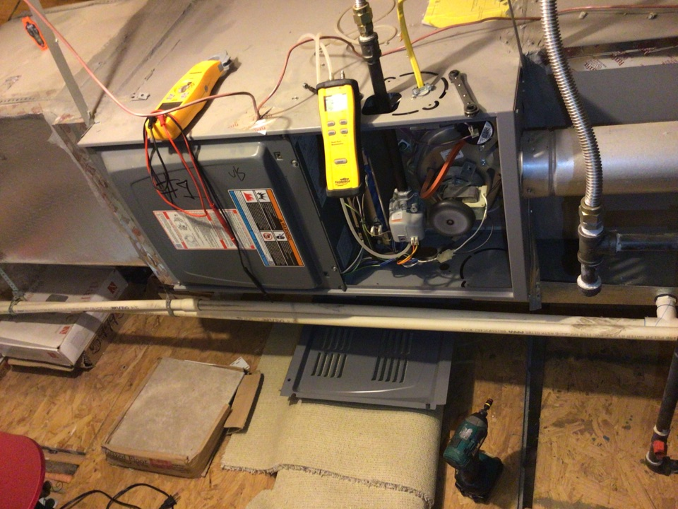 Little Elm, TX - Performing a heating tune up on two gas furnaces