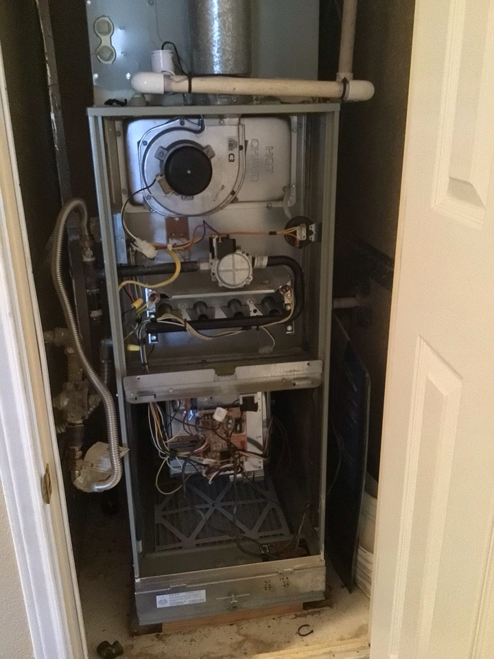 Performing a heating tune up on one Trane gas furnace
