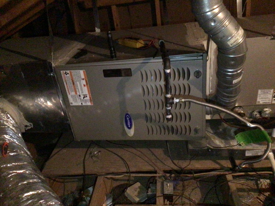 Flower Mound, TX - Performing a heating tune up on one Carrier gas furnace