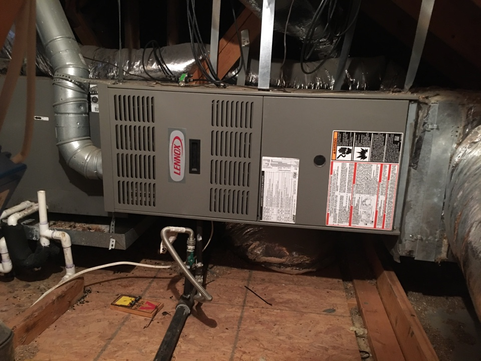 Lewisville, TX - Performing a heating tune up on two Lennox gas furnaces