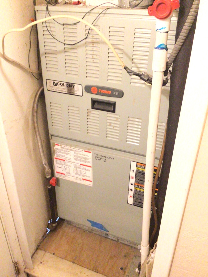 Farmers Branch, TX - Performing a heating tune up on one Trane gas furnace