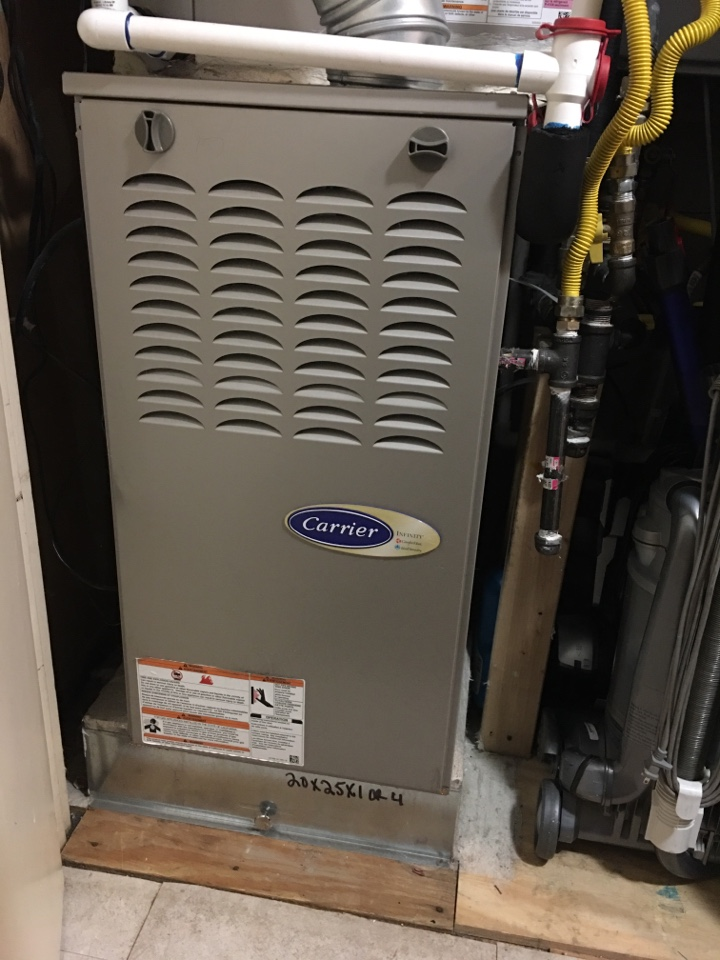 Farmers Branch, TX - Performing a heating tune up on one Carrier gas furnace