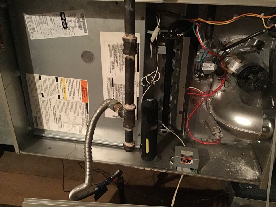 Plano, TX - Heating maintenance and preformed a minor furnace repair