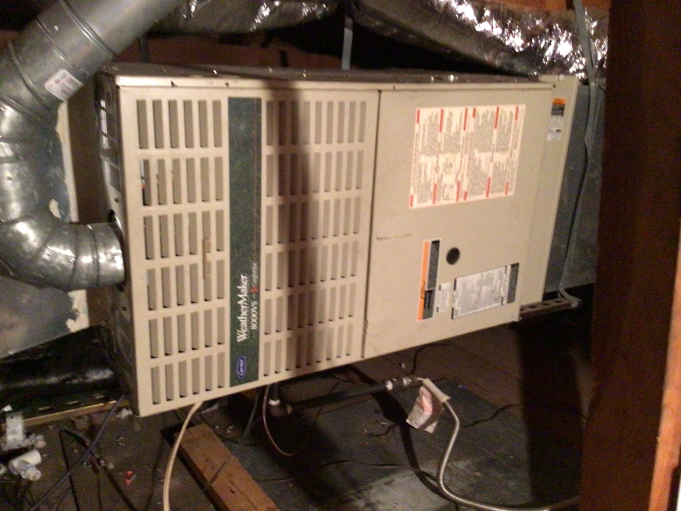 Performing a heating tune up on one gas furnace
