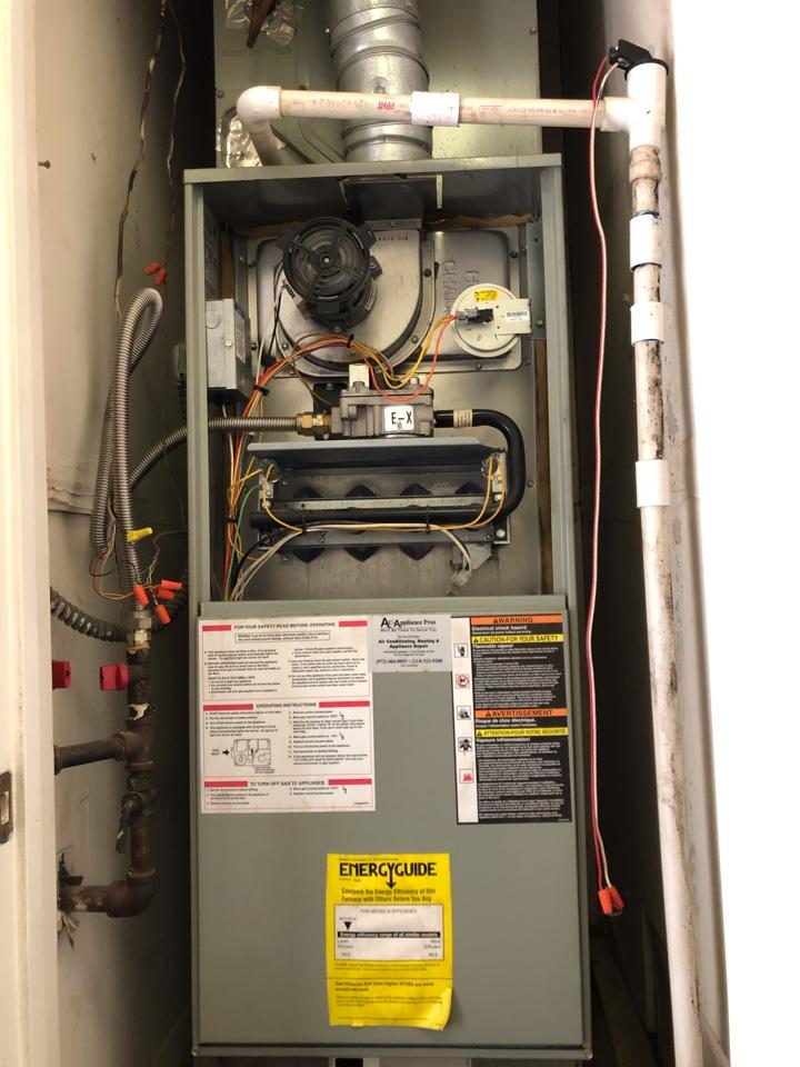 Carrollton, TX - GAS heater tune up, upflow in closet