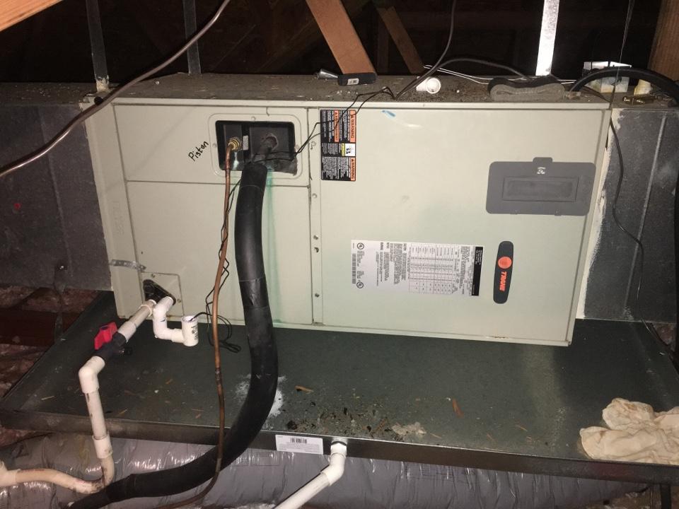 Carrollton, TX - Performing a heating tune up on one Trane heat pump