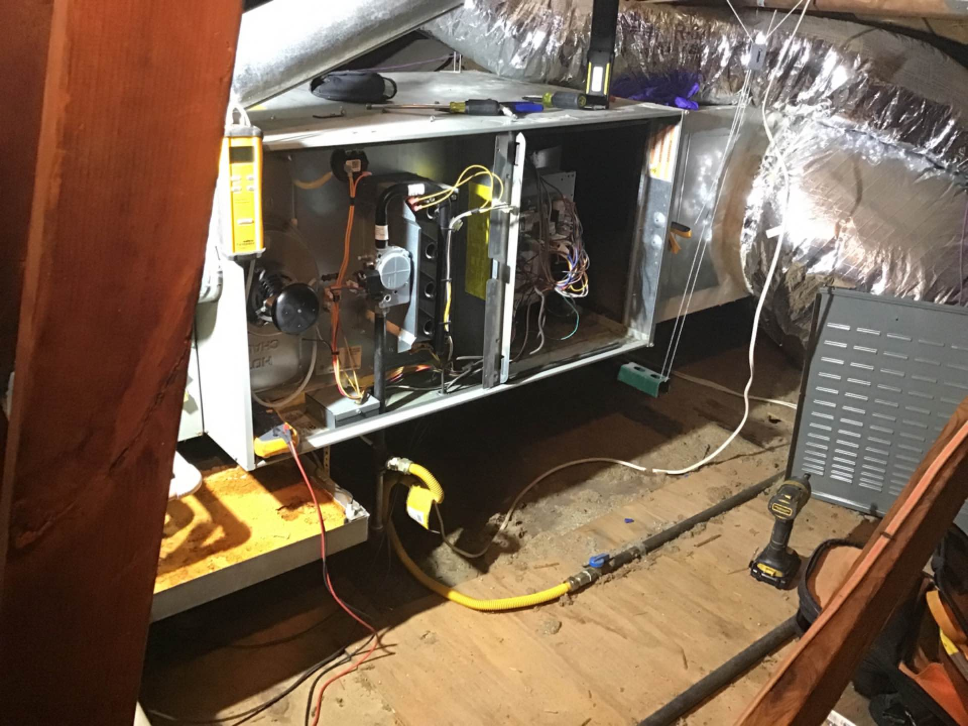 Completed annual heating tune up and safety check on a TRANE gas furnace in CARROLLTON.