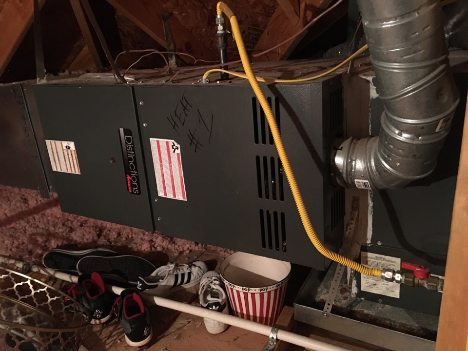 Little Elm, TX - Performed a heating tune up on two Goodman gas furnaces