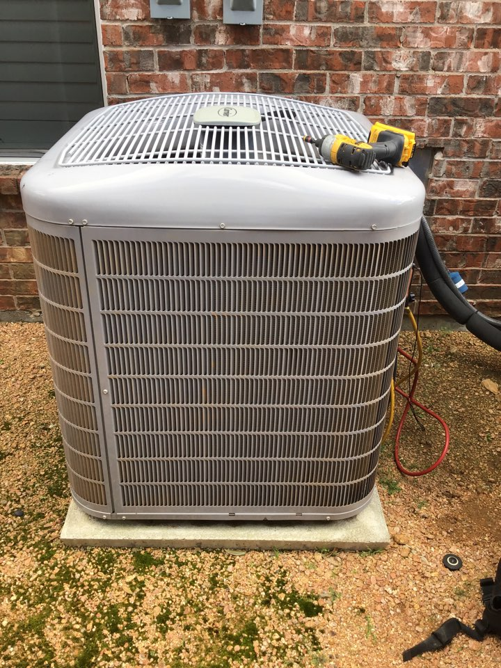 Lewisville, TX - Performed seasonal air conditioner tune up and an air conditioner repair